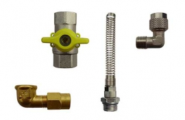 Unions / fittings / valves (brass)