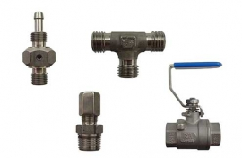 Unions / fittings / valves (stainless steel)