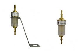 Liquid stop valves (brass (top), PC (bottom) /floater (PK or PP)