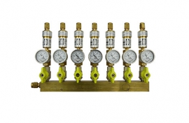 Manifolds for pipes (brass) (CF)