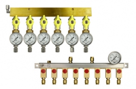 Manifolds for pipes - pressure