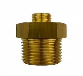 Double Nipple R1' - G3/8' R1'male-G3/8'male, Brass