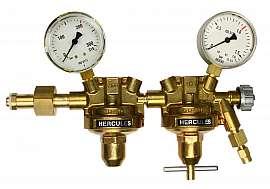 Pressure regulator, 2-stage, 1 bar, inlet 200bar, deliv. 1bar, CF6/4