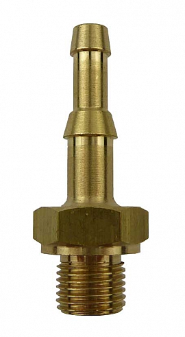 Hose Nozzle - R1/8' - S4/6 for Hose 4 or 6mm Inside Clearance, Brass