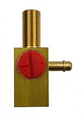 3-Way Cock with Nozzle (right), Brass + PA-12, G1/8' female