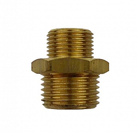 Double Nipple G1/2' - G1/8' G1/2'male-G1/8'male, Brass