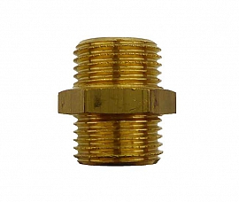 Double Nipple R1/2' R1/2'male, Brass