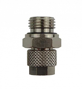 Straight Quick Union, Q8/6 - G1/4' male Brass, for PA Hose 8/6x1mm