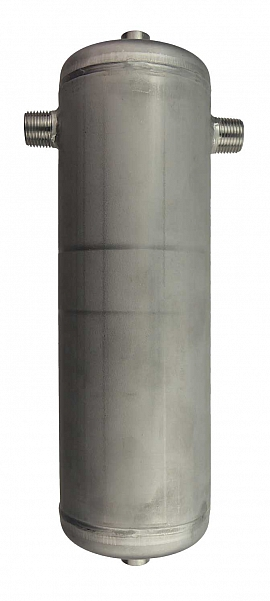 Condensate trap 1,0 liter, ss, PN25, top:1/4'f, bottom: 1/4'f, side: 1/2'm