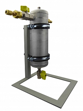 Condensate trap, 1 liter, foot, 10bar, CF8/6