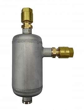 Condensate trap, CF8/6, 100ml, ss/brass, 25bar, drain plug