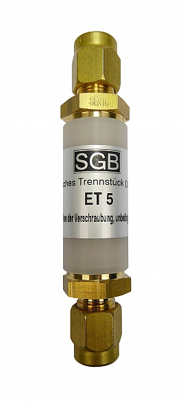 ET 5 - KV8 - Brass, Elec. Separator with Compression Ferrule f. Pipes 8x1mm