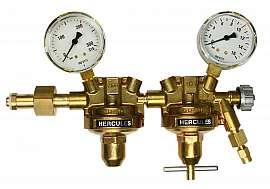 Pressure Regulator, 2-stage, 10bar,CF6/4 Inlet 200bar, Deliv. 10bar, W24,32x1/14'