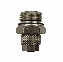 Straight Quick Union, QV8/6 - G3/8' male Brass, for PA Hose 8/6x1mm