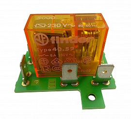 Relay, 1 Opener, 1 Closer, 230 V 50Hz Gold Plated Cont., Spare Part for 330710