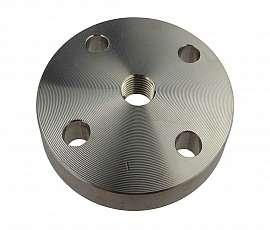 Flange, EN 1092-1, type 5, DN25, PN40, P250GH, galvanized, centric 1/2'f