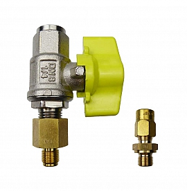 Installation kit pipe, brass, G1/8'm - CF6/4
