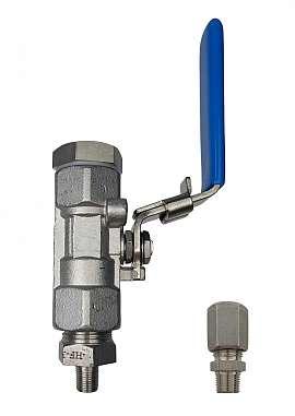 Installation kit pipe, stainless steel, R1/8''m - CF8/6