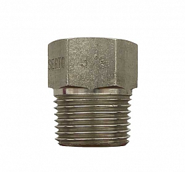 Reduction fitting, M12x1f - 3/8'm, ss