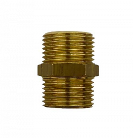 Double Nipple R3/8' R3/8'male, Brass