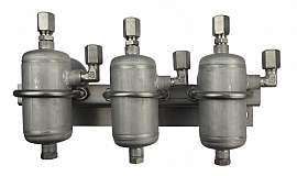 Triple condensate trap, ss-CF8/6, each 0,1 liter, ss
