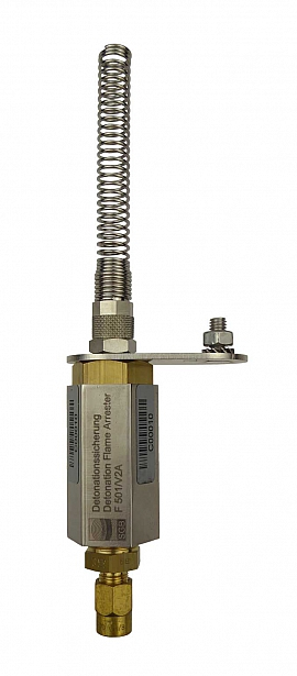 Deto.flame arrester F501 KPS, brass, CF6 or 1/4'' - QU8/6