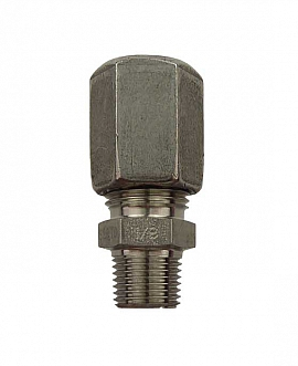 Straight Union KV 8 - R1/8' stainless steel 1.4571 or similar
