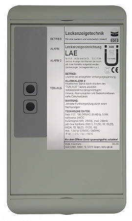 Leak indicating unit LAE, 100-240VAC/24VDC, IP30, 3xIN, 3xOUT