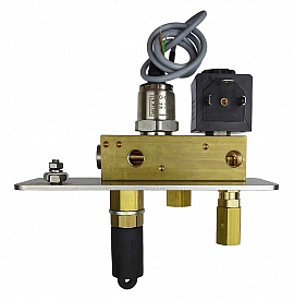 Manifold DLR-G with sensor 10 bar without pressure relief valve, 24 V DC
