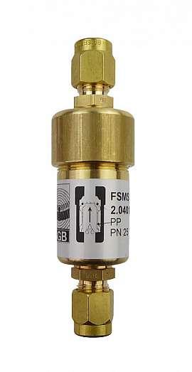 Liquid stop valve FSMS 2, CF8/6, PN25, brass, PP