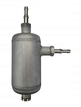 Condensate trap, H4+H6, 100ml, ss/brass, 25bar, drain plug