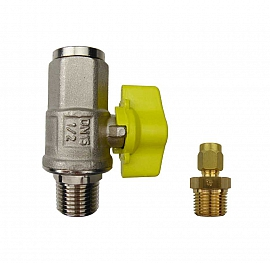 Installation kit pipe, brass, R1/2''m - CF8/6