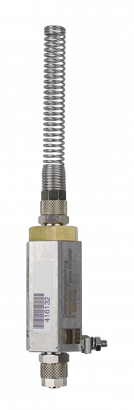 Deto.flame arrester F502 UPP, brass, QU8/6 - QU8/6