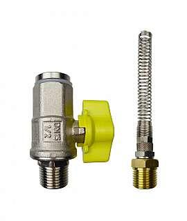 Installation kit pipe, brass, R1/2'm - QU8/6