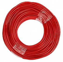PVC-Schlauch, rot, 10/6x2mm, 100-m-Rolle