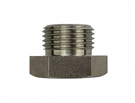 Plug G1/2' stainless steel 1.4571 or similar