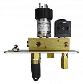 Manifold DLR-G with sensor 20 bar without pressure relief valve, 24 V DC