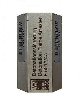 Detonation Flame Arrester F 501, Stainl. Steel, 1/2'I-3/8'I, PTB ATEX 4012 X