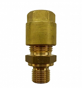 Straight Union KV10 - G 1/4' G1/4'male with Flange, Brass