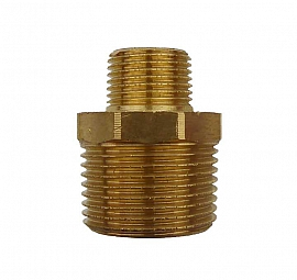 Double Nipple R3/4' - G3/8' R3/4'male-R3/8'male, Brass