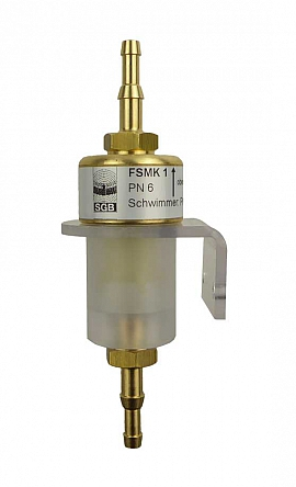 Liquid stop valve FSMK 1, H4+H6, line of sight, wall holder