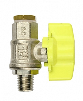 Test Valve 1/4'K, Brass with Cock PN63 and Plug