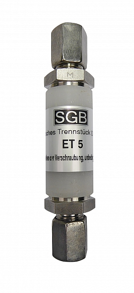 ET 5 - KV8 - Stainless Steel, Separator Compression Ferrule for Pipe 8x1mm