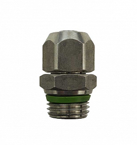 Straight Quick Union QV8/6 - G1/4'male Stainless Steel, for PA Hose 8/6x1mm
