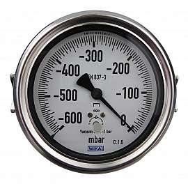 Gauge, NG100, Range -600...0 mbar 1/8' Female Back