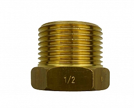 Reduction fitting, R1'm - G1/2'f, brass