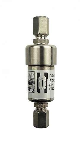 Liquid stop valve FSES 4, CF8/6, PN25, ss, PP