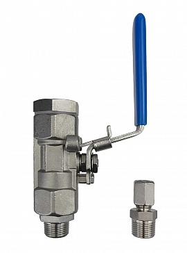 Installation kit pipe, stainless steel, R3/8''m - CF8/6