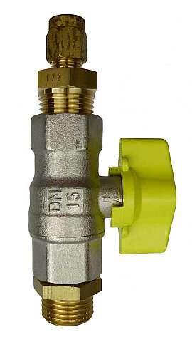 Inst. kit DL.., DLG.., R1/2'm - CF8/6, shut-off valve, CU-pipe 8/6x1mm