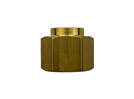 Reduction Sleeve G3/8' - G1/8' G3/8'female-G1/8'female, Hexagon, Brass